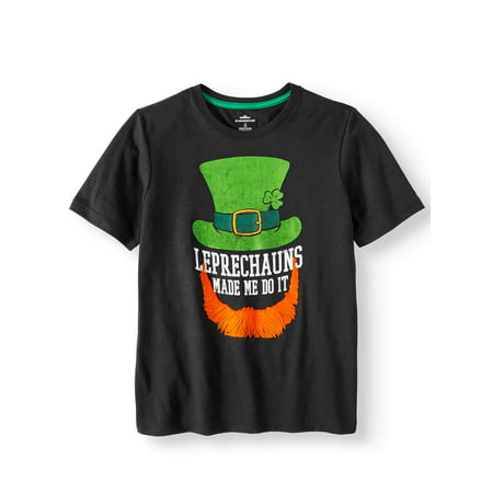 9e9d4854 PATRICKS DAY TEE - Boys st. patrick's day graphic seasonal short sleeve tee  (little boy and big boy) - Walmart.com