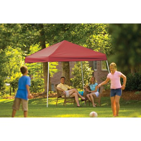 10' x 10' Sport Pop-up Canopy Slant Leg Red Cover