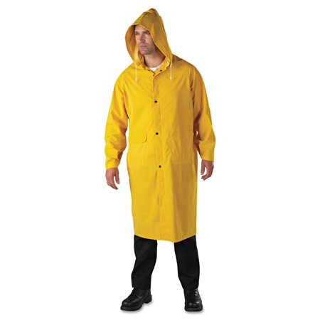 Polyester Yellow Raincoat (Anchor Brand Raincoat, PVC/Polyester, Yellow, 2X-Large)