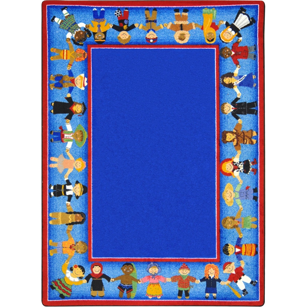 """Joy Carpets Kid Essentials - Early Childhood Children of Many Cultures, 10'9"""" x 13'2"""", Multicolored"""