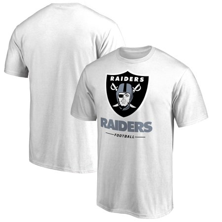 Oakland Raiders NFL Pro Line by Fanatics Branded Team Lockup T-Shirt - White