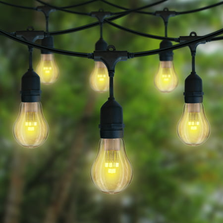 Meilo 18 Ft Led Vintage Drop String Lights 10ct Shatter Proof Warm White Light Bulbs Heavy Duty Connectable Indoor Outdoor Backyards 360 Shine