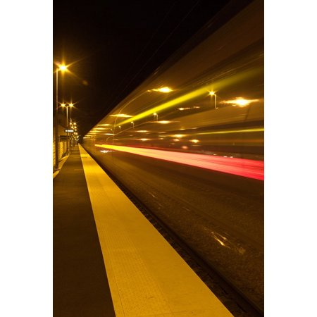 10 Station Speed Dial - Canvas Print Speed Station Lighting Night Train Wharf Ter Stretched Canvas 10 x 14