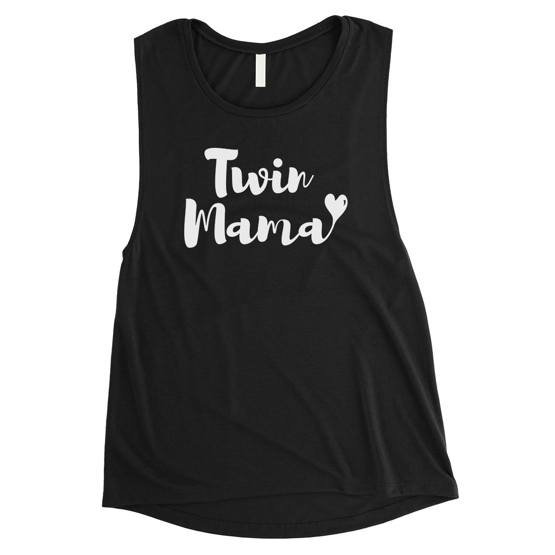365 Printing Twin Mama Womens Black Muscle Shirt Walmart Com