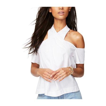 Rachel Roy Womens Cold Shoulder Knit Blouse white 12 - image 1 de 1