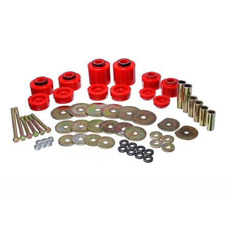 Energy Suspension 80-96 Ford F-150/250/350 Red Body Mount Set Includes Hardware