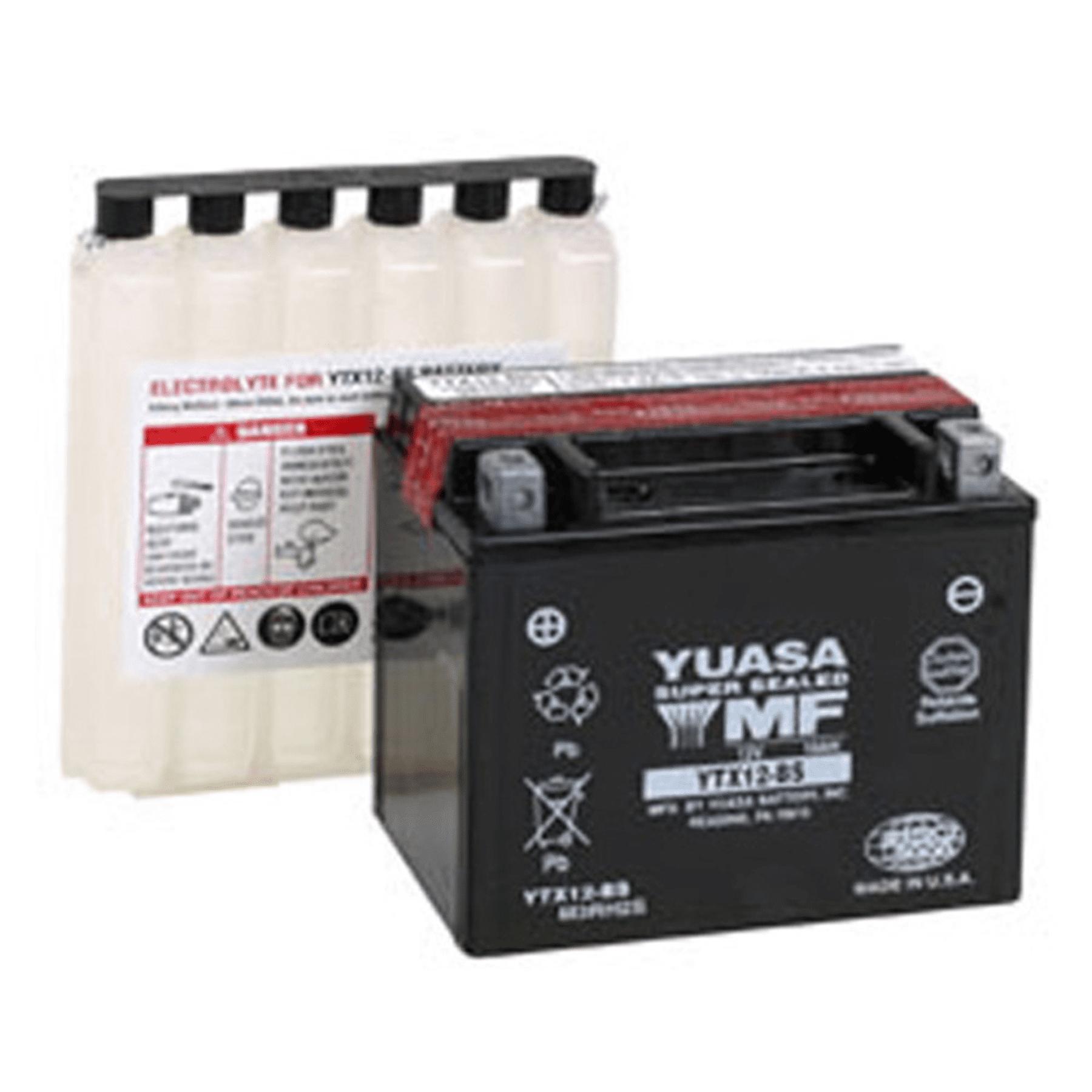 YUASA YTX12-BS MAINTENANCE FREE 12 VOLT BATTERY