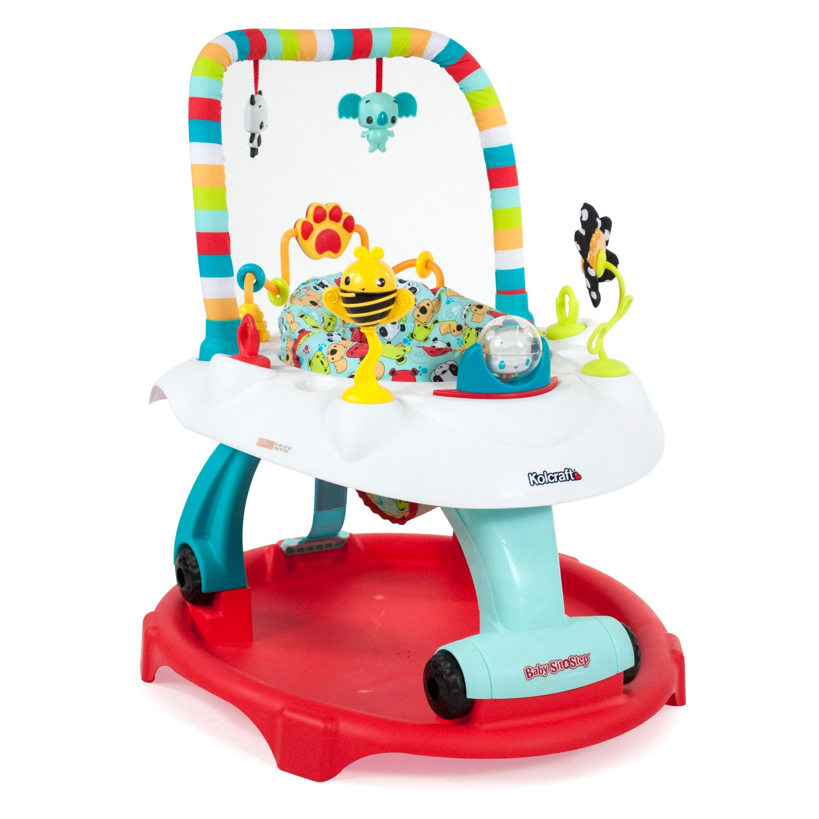 Kolcraft Baby Sit & Step 2-in-1 Activity Center, Bear Hugs