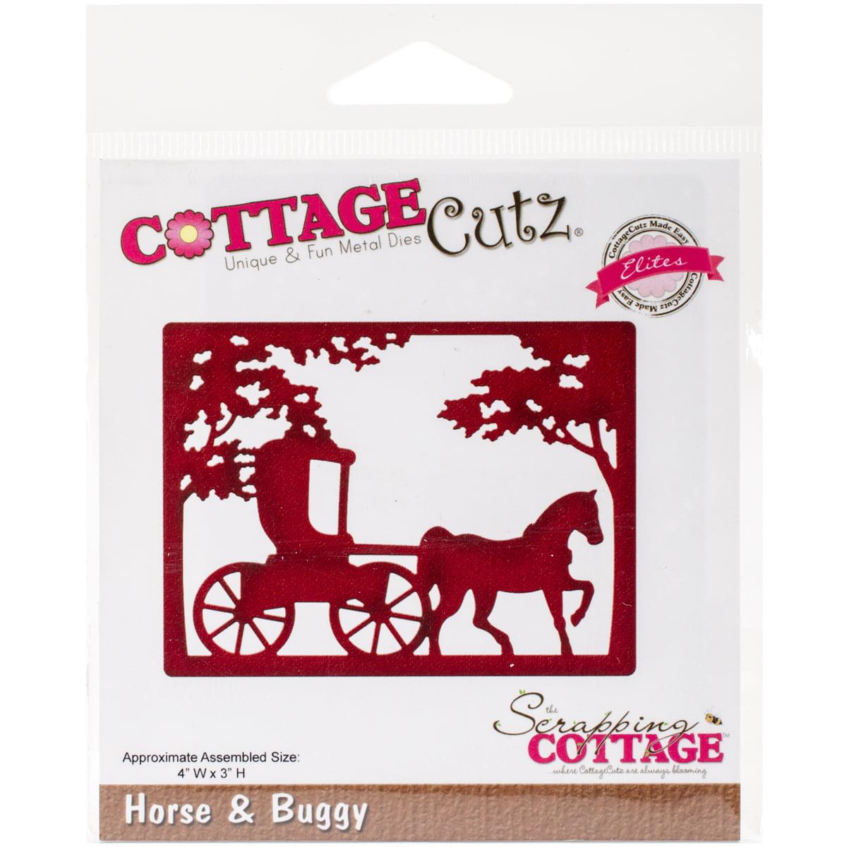 "CottageCutz Elites Die, Horse and Buggy, 4"" x 3"""