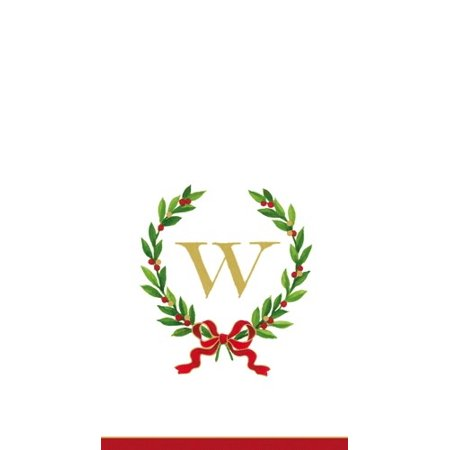 Christmas Monogram Initial W Paper Guest Napkins 20pk (Monogramed Napkins)