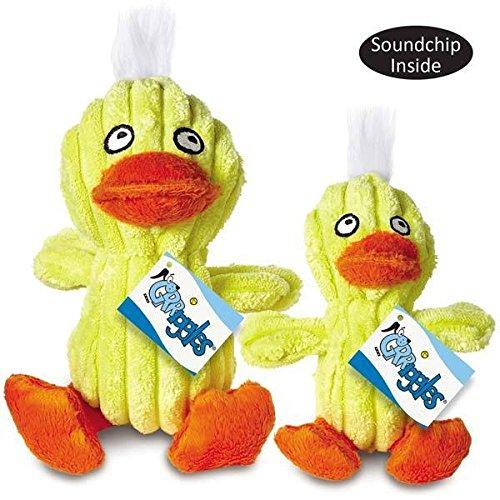 Quacklings Plush Duck Character Dog Toys Quacking Ducks Soundchip - Choose Size