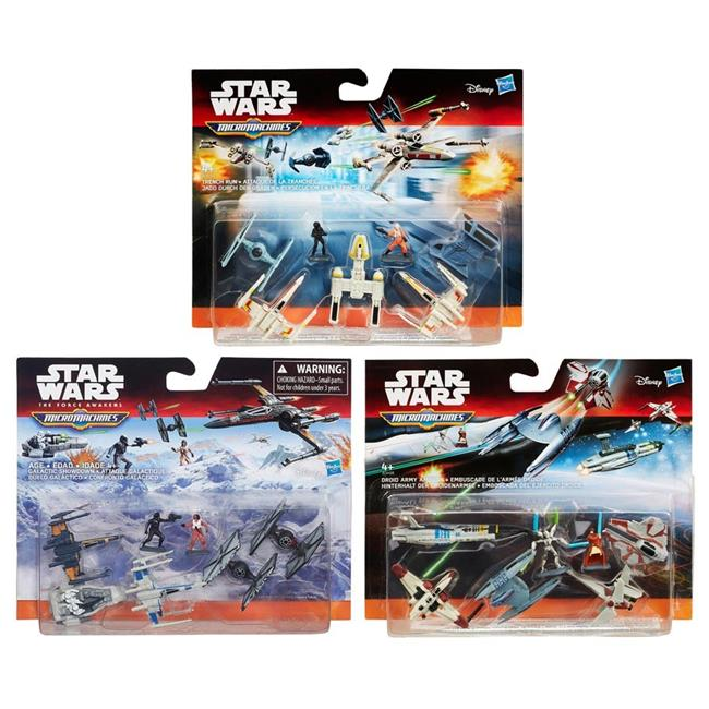 Hasbro HSBB3496 Star Wars Episode 7 Micro Machines Deluxe Vehicle, Assorted Colors - Set of 12