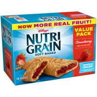 Kellogg's Nutri-Grain Value Pack Soft Baked Strawberry Breakfast Bars 1.3 oz 16 ct