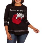 Holiday Women's Plus Let's Wrap Pullover Sweater