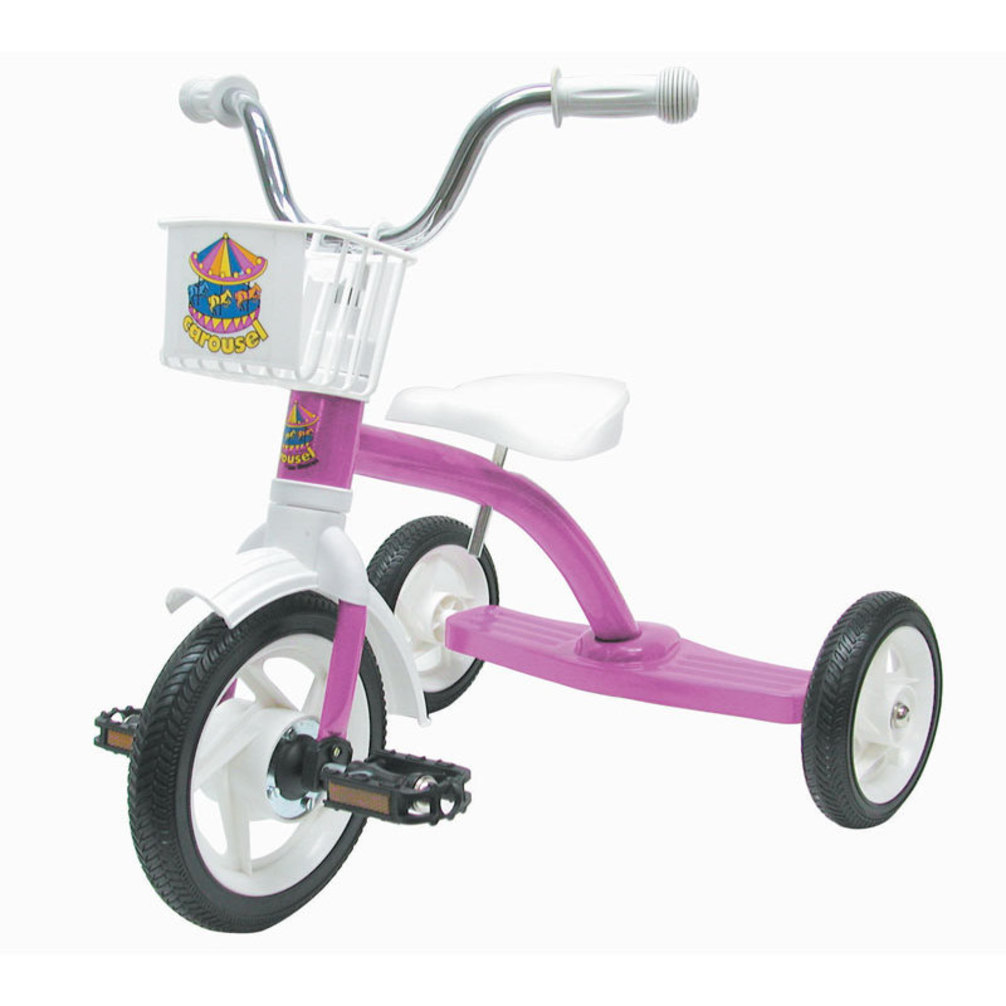 Carousel Tricycle 10In Pink