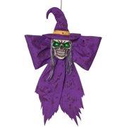 Large Purple Creepmas Witch Bow Wall Door Christmas Halloween Decoration