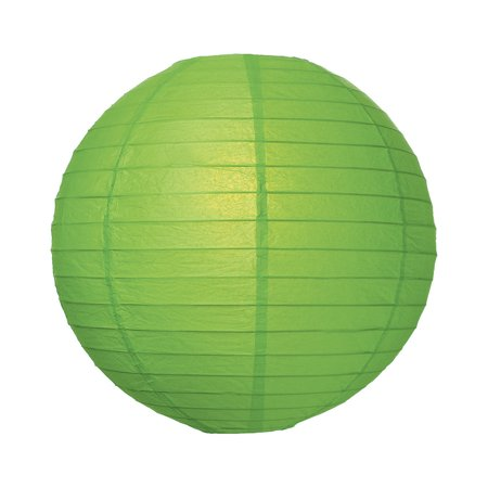 Premium Paper Lantern, Lamp Shade (24-Inch, Parallel Style Ribbed, Grass Green) ()