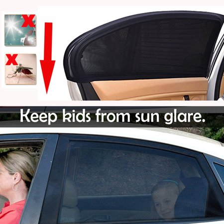 aa65fa7fa0a iClover 2 Pieces Car Window Shade for Baby Kids Car Sun Shade for Side  Window