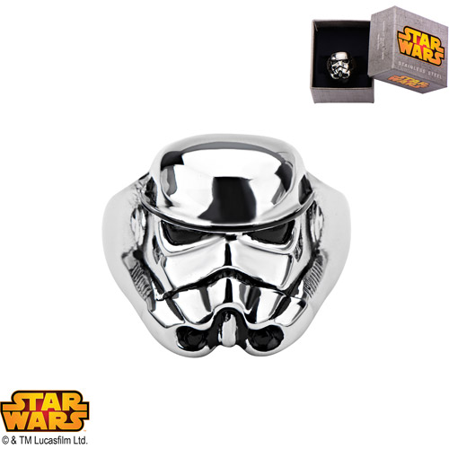 Disney Stainless Steel Star Wars 3D Stormtrooper Ring