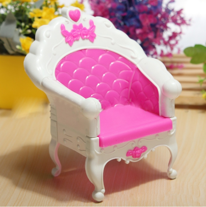 DSstyles Fashion Mini Dollhouse Furniture Living Room Set Chair for Barbies Doll Bedroom Furniture Dollhouse