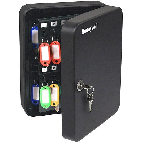 Honeywell 0.13 cu. ft. Steel 48-Key Security Box with Key Lock, 6106