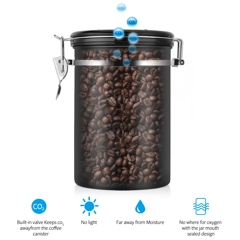 9bb71df89 HURRISE Coffee Stainless Steel Container