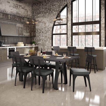 Amisco  Symmetry Metal Chairs And Sierra Table 72    Dining Set