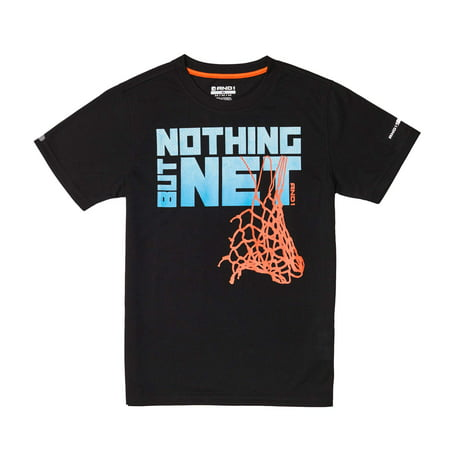 AND1 Graphic Tee Nothing But Net Basketball Shirt (Little Boys & Big Boys) (Basket Screen)