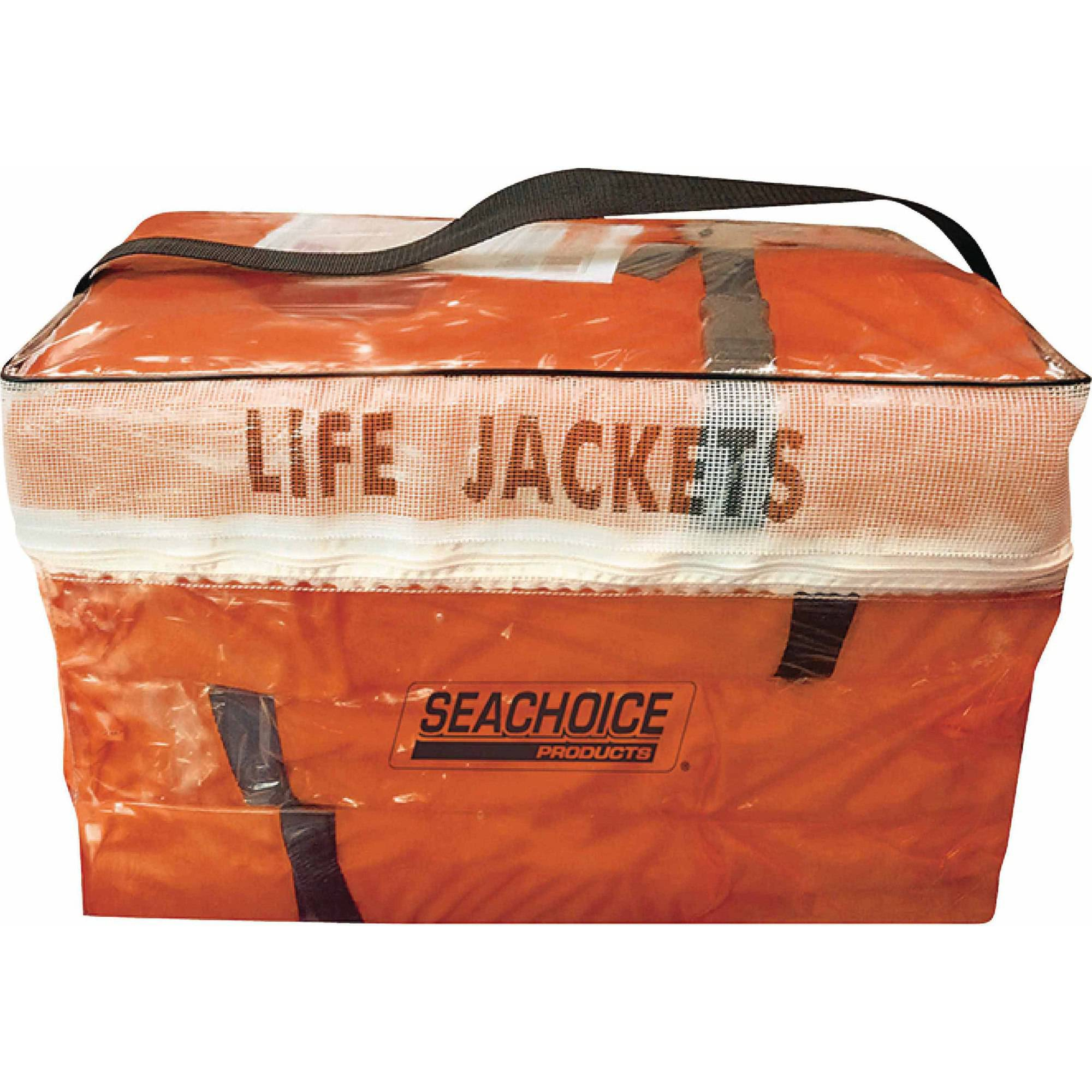 Seachoice Adult Universal Type II USCGA Life Vest Pack, Orange, 4-Pack by Seachoice Products