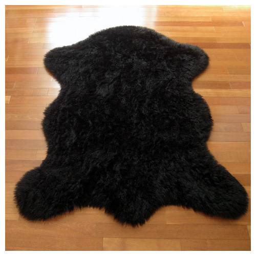 Walk On Me Animal Black Area Rug