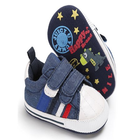 Newborn Infant Baby Girls Boys Crib Shoes Soft Sole Anti-slip Sneakers Canvas