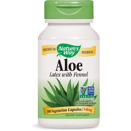 3 Way Latex - Aloe Latex with Fennel 140 milligrams 100 Vegetarian Capsules. Pack of 3 bottles., Dietary supplement. By Natures Way