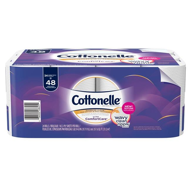 Kimberly Clark 48625 Cottonelle Ultra Comfortcare Toilet Paper Soft Bath Tissue - Pack of 2