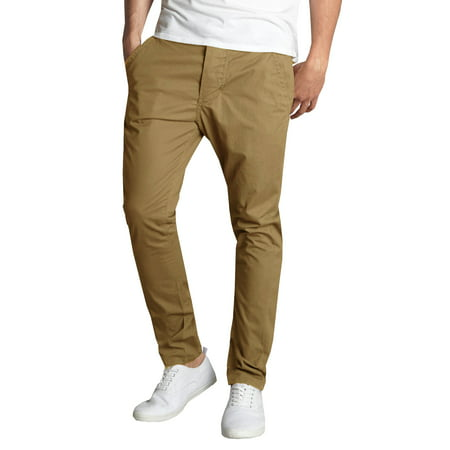 Mens Cotton Chino Pants Slim Fit Casual (Chino Sandwich)