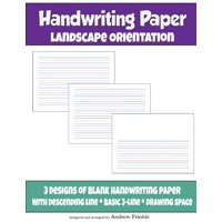 Handwriting Paper : Landscape Orientation