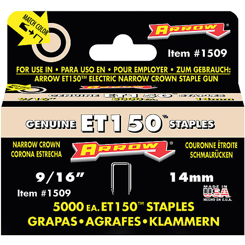 "Arrow Fastener 1509 9/16"" ET150 Staples"