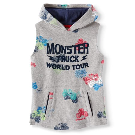 Sleeveless Printed Muscle Hoodie (Little Boys & Big Boys)