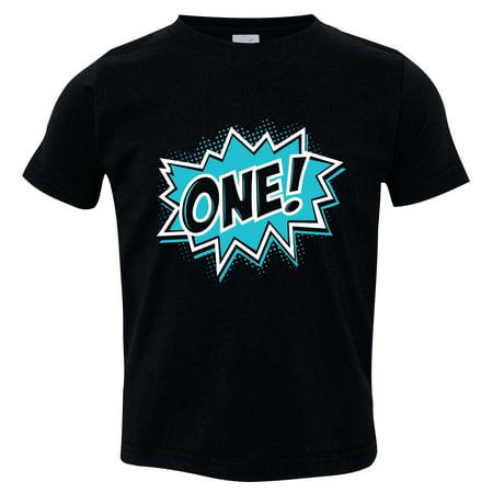 Brand: Birthday Shirt with Comic Book Design, Super Hero Bday Shirt, Black 12-18 m