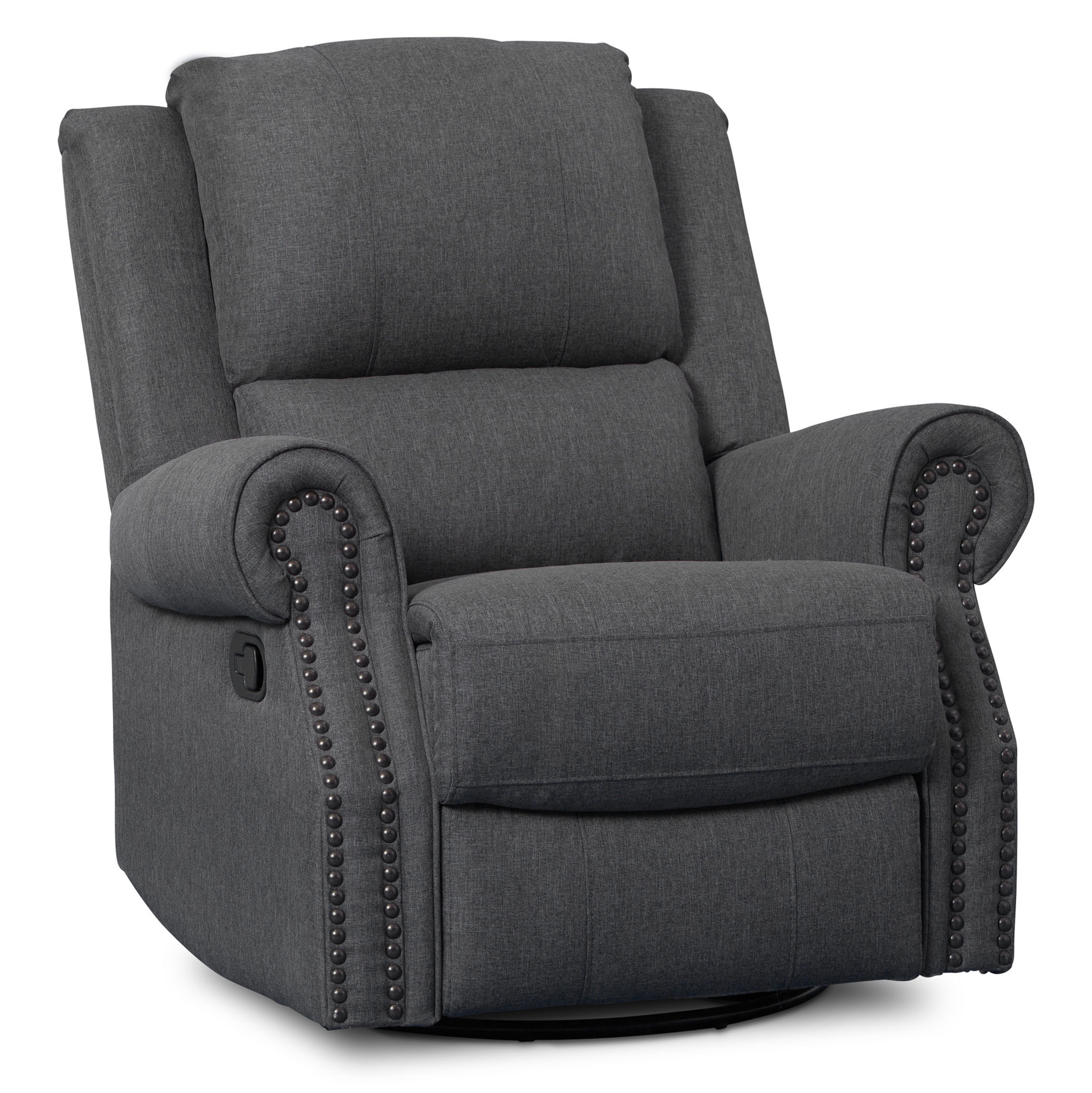 Delta Children Drake Nursery Glider Swivel Recliner, Charcoal by Delta Children