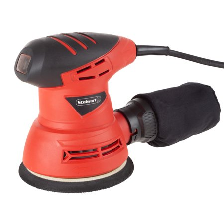 Stalwart Orbital Sander – 2 Amp Handheld Corded Electric Power Tool for Woodworking with Dust Extraction