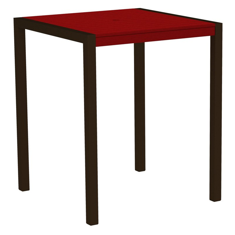 POLYWOOD MOD 36 in. Square Pub Table with Aluminum Frame by Polywood