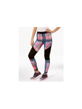 HUE Women's Moto Mesh Athletic Active Leggings (M, multicolor)