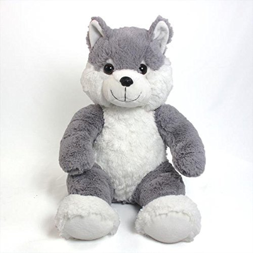 Wishpets 14 Sitting Gray Wolf Stuffed Animal Walmart Com