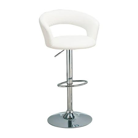 Vig Furniture Shasta Modern White Eco Leather Bar Stool Set Of 2