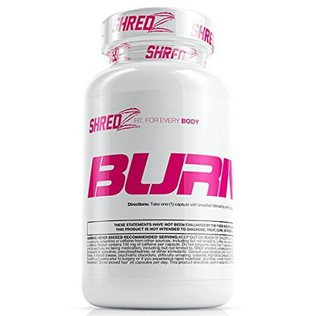 SHREDZ Fat Burner Supplement Pill for Women, Lose Weight, Increase Energy, Best Way to Shed Pounds and Boost Metabolism, 60 Capsules (1 Month (Best Pills To Lose Weight 2019)