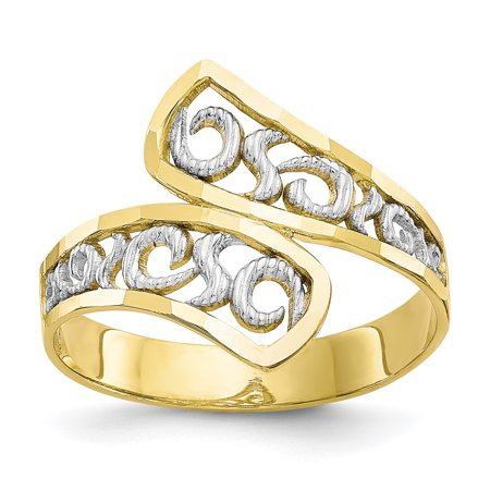 Fine Filigree - 10kt Yellow Gold Filigree Band Ring Size 6.00 Fine Jewelry Ideal Gifts For Women Gift Set From Heart