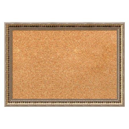 - Amanti Art Fluted Champagne Framed Cork Board