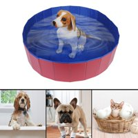 EOTVIA Home Indoor Outdoor Pet Swimming Pool Pet Bathing Tub,Foldable Pet Dogs Cats Bathing Tub Portable Swimming Pool