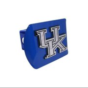 """University of Kentucky Wildcats """"Royal Blue with Chrome UK Emblem"""" NCAA College Sports Trailer Hitch Cover Fits 2 Inch A"""
