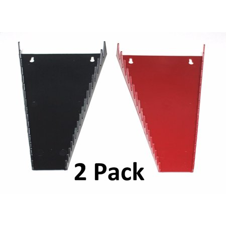 RED & BLACK JSP Manufacturing 16-Tool Standard Wrench Organizer 2 Pack Made in USA